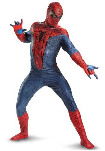 [Disguise Mens Amazing Spiderman Movie Elite Theatrical Quality Marvel Costumes, Plus (50-52)] (Quality Superhero Costumes)
