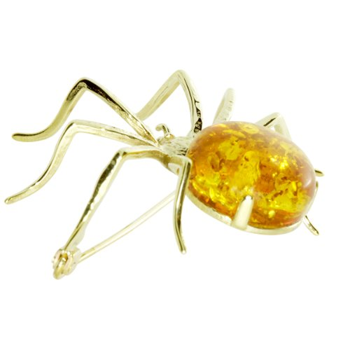 In Collections - 0010133041100 - Broche Femme - Or Jaune 333/1000 (8 Cts) - Ambre