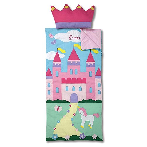 For Sleeping Personalized Bags Kids - Lillian Vernon Castle Kids Personalized Sleeping Bag with Detachable Pillow by
