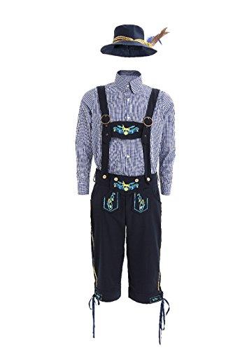 [Bavarian Costume Men - Adult Deluxe Traditional Men German Oktoberfest Costume (S/M)] (Deluxe Oktoberfest Hat)