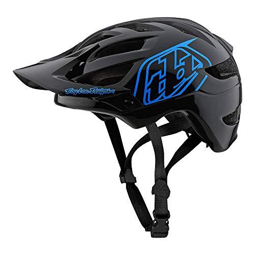 Troy Lee Designs Youth Kids | Trail | Enduro | Half Shell A1 Drone Mountain Biking Helmet (Youth, Black/Blue)