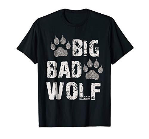Mens Big Bad Wolf Paw Print Halloween Costume T-Shirt XL Black for $<!--$19.95-->
