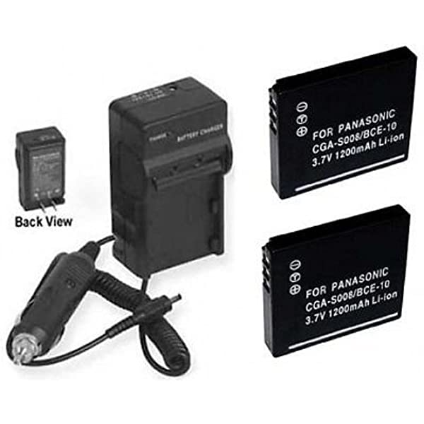 Battery VW-VBJ10+Charger for Panasonic SDR-S15 SDR-S26 SDR-SW20 SDR-SW21 SW28