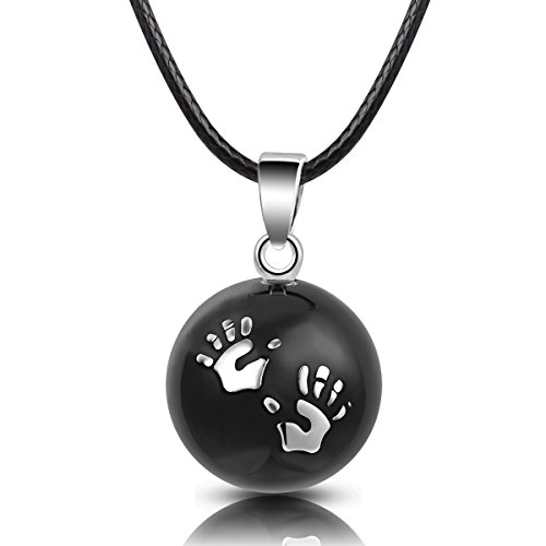 - EUDORA Harmony Bola Cute Baby Hands Chime Pendant Pregnancy Necklace 30