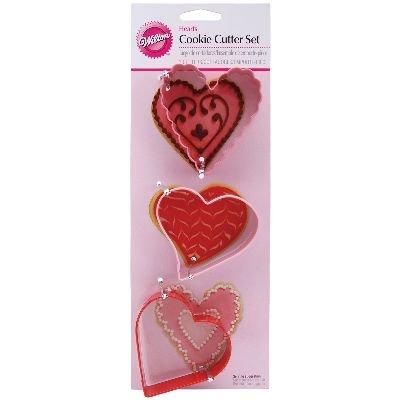 Wilton Metal Cookie Cutter Set 3/Pkg-Hearts