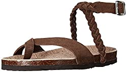 Muk Luks Women's Muk Luks Women's Estelle Sandals Flat Sandal, Brown, 6 M Us