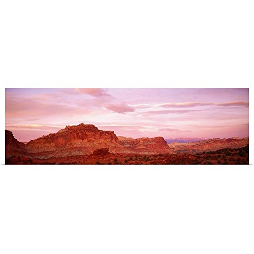 GREATBIGCANVAS Poster Print Entitled Dusk Panorama Point Capital Reef National Park UT by 36
