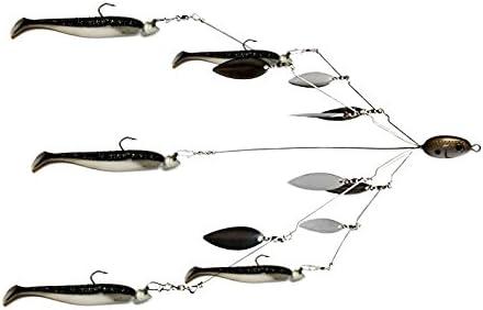Umbrella Fishing lure Rig 5 Arms Alabama Rig Head Swimming Bass Minnow Bait Best