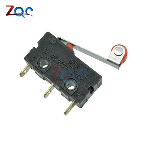 10Pcs KW12-3 Micro Roller Lever Arm Normally Open Close Limit Switch