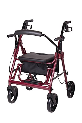 Carex Transport Rollator, Chair/Rolling Walker Combo Unit, 20 (Combo Walker)
