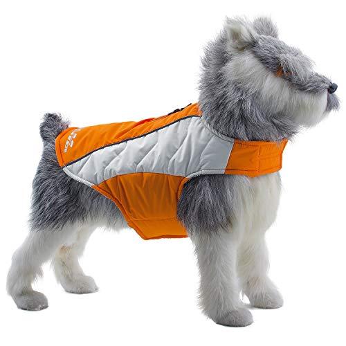 ThinkPet Reflecting Waterproof Reflective Jacket - Heat Reflecting Dog Coat Waterproof Vest Sport Adventure Gear for Autumn Winter