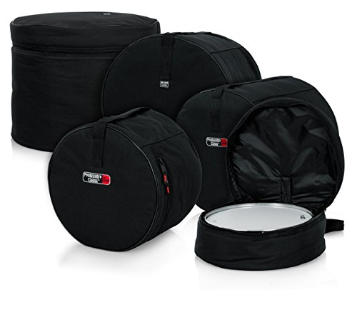 Tama Drum Case - Gator Cases GP-FUSION16 Standard Padded Nylon Bag, 5 pack Set for Fusion Style Drum Kits with 16