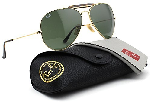Ray-Ban RB3029 181 OUTDOORSMAN Gold Frame / Dark Green Lens - Rb3029 Ray Ban