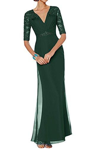 Gruen V ausschnitt Braut Marie Dunkel Etuikleider Langarm Lila Brautmutterkleider Partykleider Dunkel Damen Abendkleider La xq1O6SS