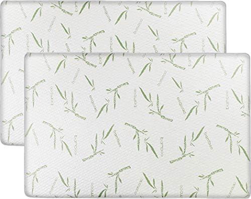 2 Pack Utopia Bedding Waterproof Crib Bamboo Mattress Protector Cradle Mattress Pad 28 x 52 Inches
