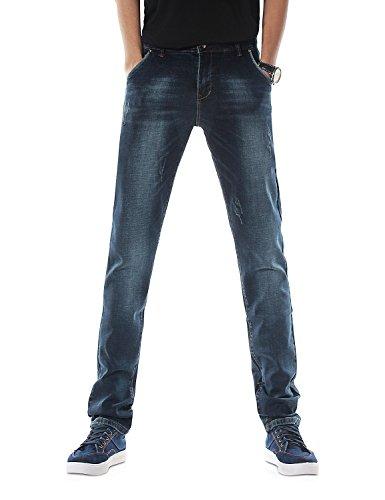 Demon Jeans X amp;hunter Dh3035 Serie 817 Uomo Blu Magro Elasticoizzato RqOwrR8Yn