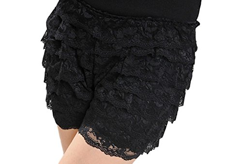 Halloween Bloomers (YUKICHI wear Women's Fitted Lace Shorts 【 for Lolita dress 】 Bloomers Halloween (black))