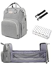 Baby diaper bag with changing station - multi-purpose mom and dad bag for traveling - large capacity diaper back bag with pad