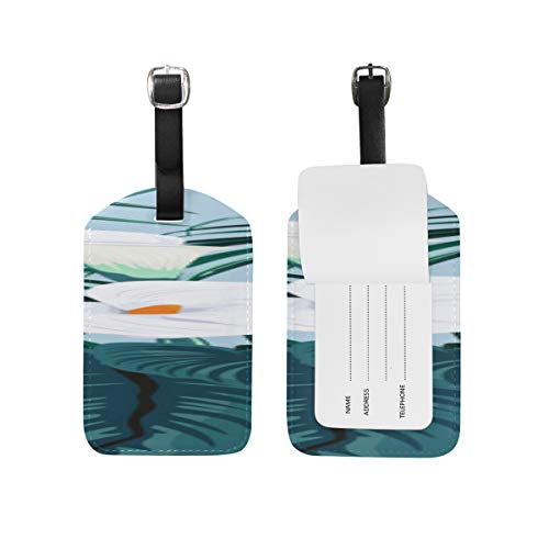 Id Labels Business Card Suitcase Luggage Tag Calla White Floral Romatic (Blossom Calla White)