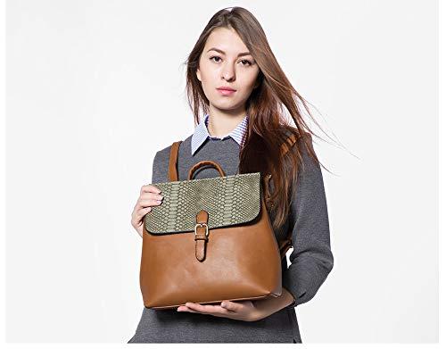 Dos À De Prints Avec Sac Ladies Haute Mode Cartable Brown Sacs À Femme Fille Bandoulière Serpentine Féminine VHVCX Qualité Sac 1w7Zqx1InX