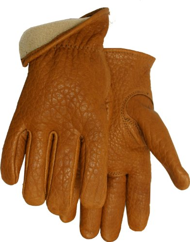 American Made Buffalo Leather Vellux Lined Work Gloves , 650V, Size: Medium