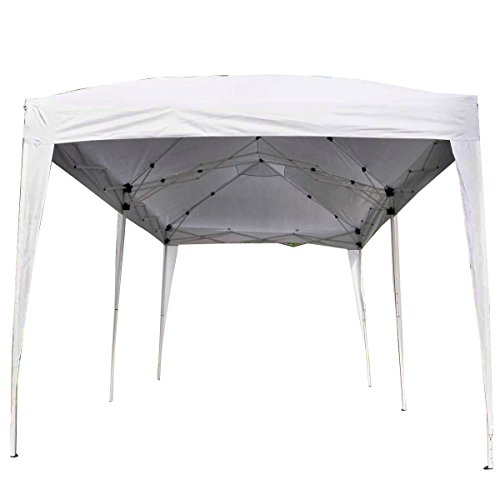 Giantex 10'x20' Ez POP up Wedding Party Tent Folding Gazebo Beach Canopy W/carry Bag (Flea Market Cafe)