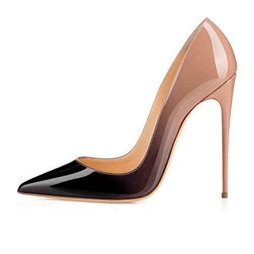 Heel Handmade Blue Stiletto ASO Pumps Womens Pointed Kate Fashion Slim EDEFS Gradient Toe Classic 120mm Shoes Party Tq4fnPqZW