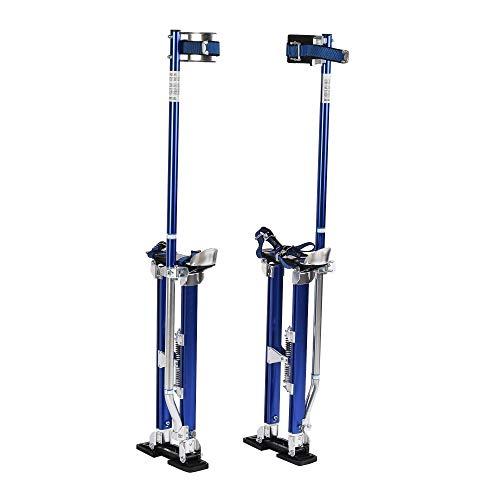 SUNCOO Drywall Stilts 24-40'' Adjustable Height Heavy Duty Aluminum Tool Stilt for Painting Painter Taping Blue