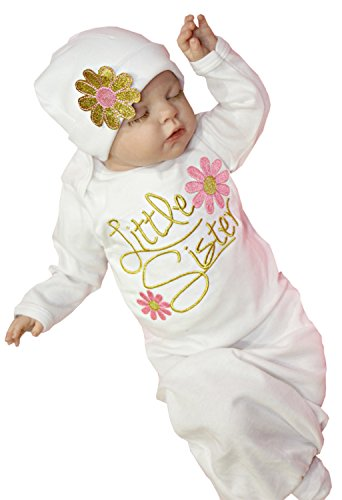 Newborn Baby Girl Take Home outfit Baby Girl Gift Set Baby Gown (0-3 Months, Pink)