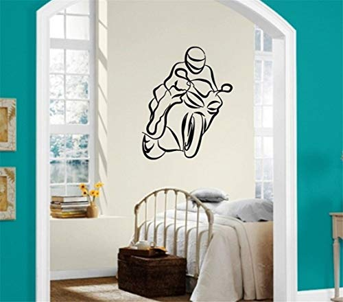 Jiesa Wall Art Decal Sticker Words Wall Saying Words Removable Mural Kids Motorcycle Sport Racing for Boys Bedroom Extreme Sports Decor (Best Racing Cycle In India)
