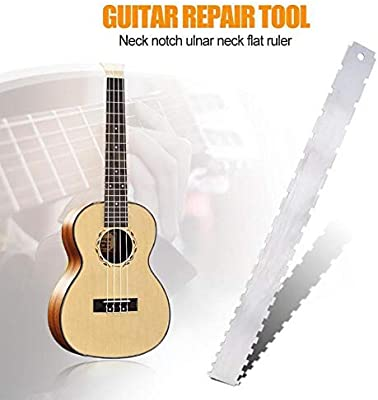 Buffyin Cuello de la Guitarra Muesca Regla Traste Diapasón Recto ...