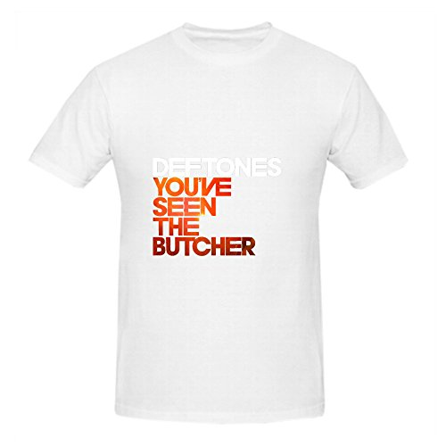 Deftones Youve Seen The Butcher Soul Album Cover Mens Crew Neck Printed Shirts White