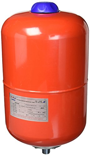 (Duda Energy ExpTank-008V-S 8 L/2.1 gallon Red Expansion Tank for Solar Water Heater Systems Thermal Pressure Protection)