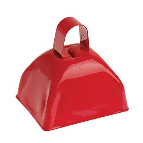 U.S. Toy One School Spirit Metal Red Cowbell -