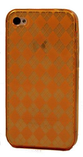 Katinkas KATIP41057 Soft Cover für Apple iPhone 4 Checker orange