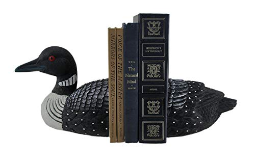 Streamline Loon Bookends Decorative Bird Top and Tail Set