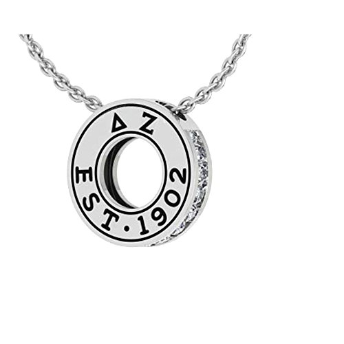 - Greekgear Delta Zeta Circle Established Charm Necklace