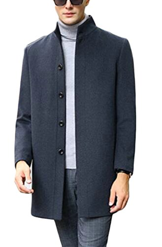 Sleeve 3 today Jacket Blend Pea Warm Long Mens Winter UK Wool Stand Collar 0xH7ag0w