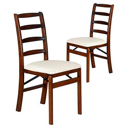 (OKSLO Shaker ladder back hardwood folding chair - light cherry)