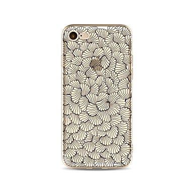 Fundas y estuches para teléfonos móviles, Caso para el iphone 7 más 7 la cubierta transparente de la cubierta del patrón de la cubierta de la caja florece el tpu suave para el ( Modelos Compatibles :  IPhone 8