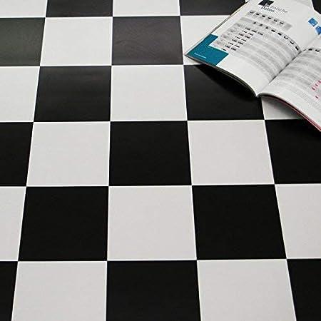 9,50 /€ p. m/² Breite: 200 cm x L/änge: 200 cm PVC Bodenbelag Schachbrett Schwarz Wei/ß 2,00 mm