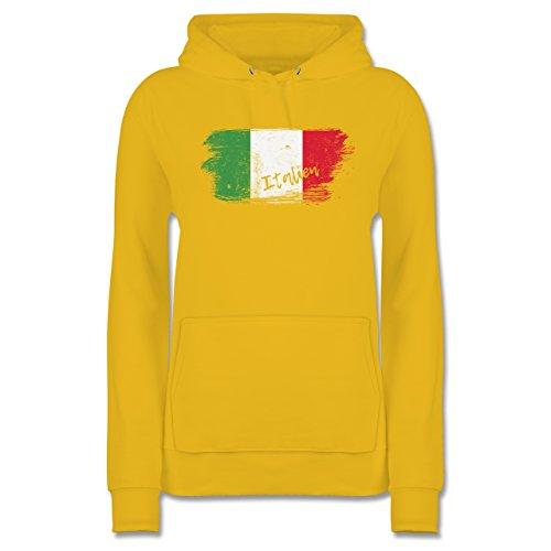 Italien Damen Länder Hoodie Shirtracer Vintage - Gelb