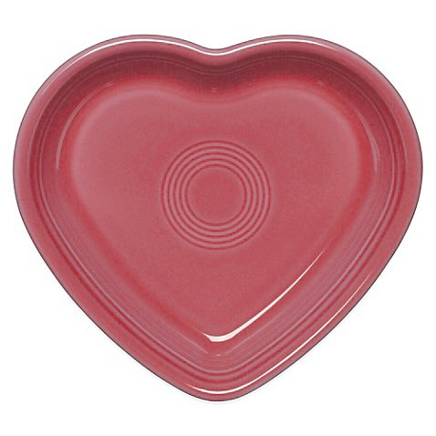 Fiestaware Heart Shaped Small Bowl, 7 Oz. (Retired) (Flamingo)