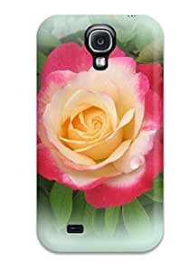 FGYhTBW494edDqX Case Cover Colorful Rose Galaxy S4 Protective Case
