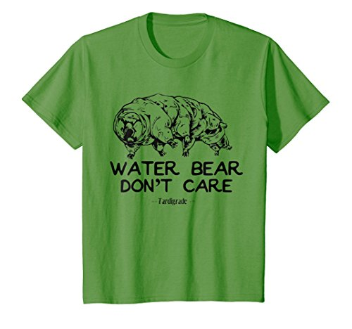 Price comparison product image Kids Science T-Shirt Water Bear Don't Care Funny Tardigrade Gift 4 Grass