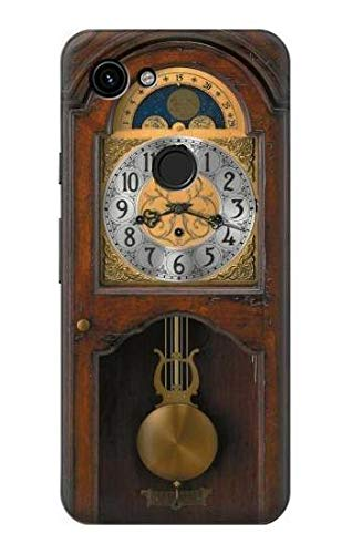 Price comparison product image R3173 Grandfather Clock Antique Wall Clock Case Cover for Google Pixel 3a