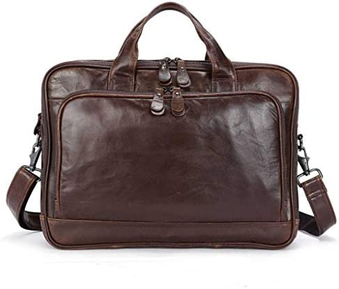 14 男性用インチレザーラップトップブリーフケース, 旅行大学のための金属のジッパーが付いている出張旅行のメッセンジャー袋