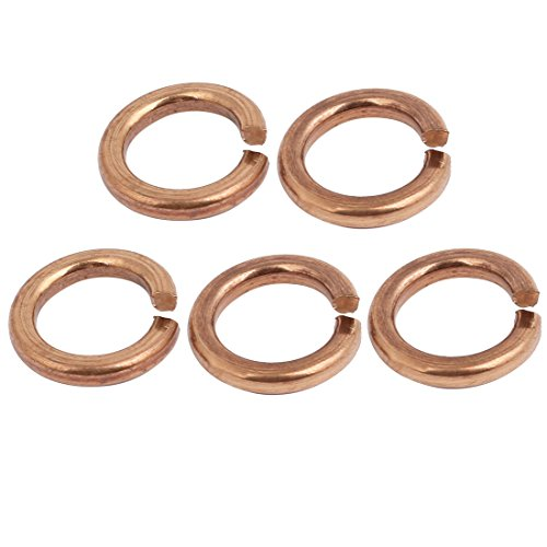 uxcell 2.5mm Inner Dia Phosphor Bronze Split Lock Spring Washer Gasket 5pcs