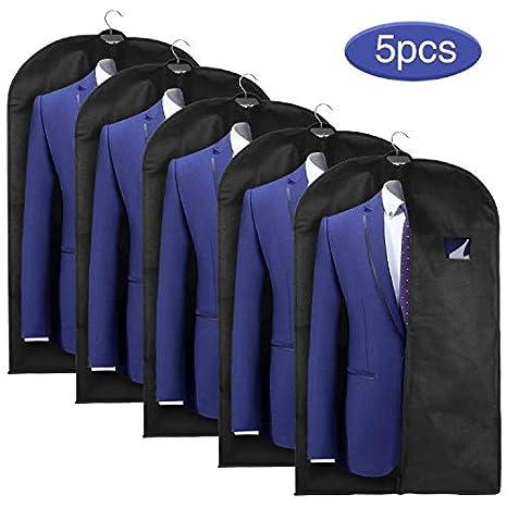 Funda Protectora de Ropa 5pcs 128 * 60 cm Papel Resistente al Polvo para Colgar la Ropa Bolsas de Ropa Vestido Fundas para Trajes con Armario de ...
