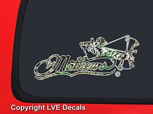 LVE Decals Mathews Bowhunter Logo - Realtree Camo Hunting Window Decal Sticker